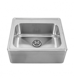 Whitehaus WHNAP2522 Noahu0027s Collection Brushed Stainless Steel Single Bowl  Drop In Sink With A Seamless